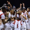 UofL Players celebrate after the win over Duke.