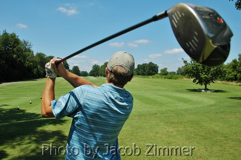 Golfers participate in The Terry Meiners' Crusade for Children Golf Scramble.