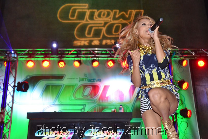 DJ and musician Havana Brown was the headliner at the Glow Go 5K and Party. July 27th, 2013.