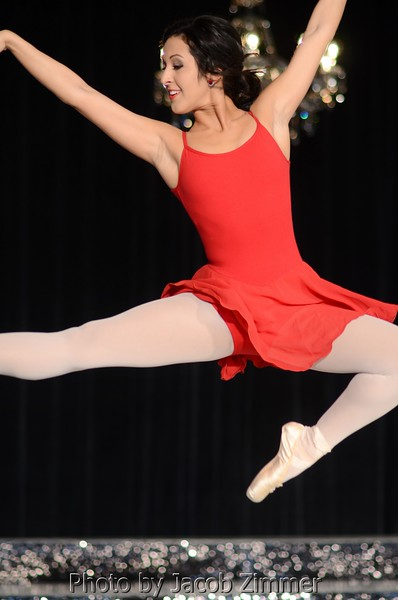 Amelia Gandara does a ballet performance in the talent competition.