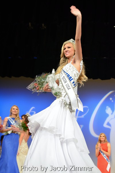 Caroline Ford was crowned Miss Kentucky Teen USA at the 2015 Miss Kentucky USA Pageant at the Ursuline Arts Center Sunday night. January 11, 2015.