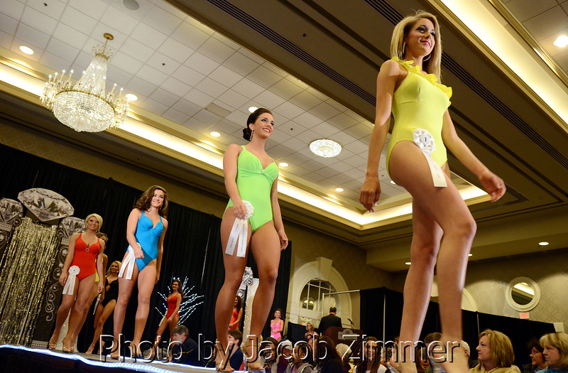 Contestants compete in the 2015 Miss Kentucky County Fair Pageant at the Galt House Saturday night. January 17, 2015.