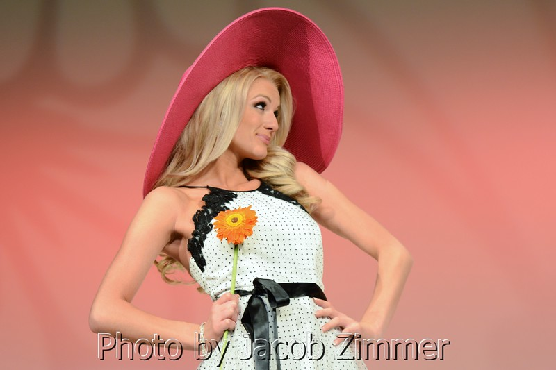 A KY Derby themed runway show was part of the 2015 Miss Kentucky USA Pageant at the Ursuline Arts Center Sunday night. January 11, 2015.