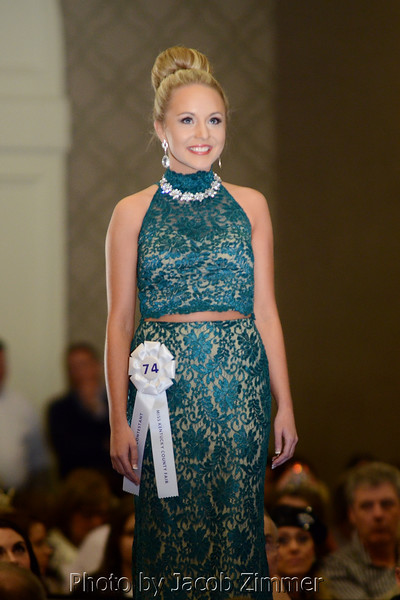 Miss Franklin-Simpson Fair Tiffany Nickelson competes in the 2015 Miss Kentucky County Fair Pageant at the Galt House Saturday night. January 17, 2015.