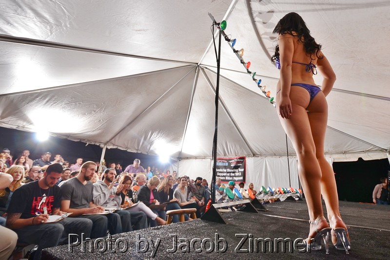 Scenes from the bikini contest at the Dupont Hooters. April 13, 2013.