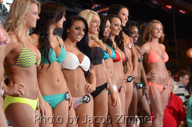 Scenes from the Hooter's Bikini Contest in the Jeffersonville, IN riverfront restaurant Friday night. May 17, 2014.
