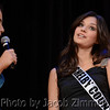 Emcee and 2008 Miss KY USA Alysha Shelby interviews Megan Ducharm at the Miss KY USA Pageant at the Ursuline Arts Center in Louisville on Sunday. January 12, 2014.