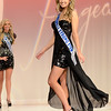 Samantha Strong walks the stage while competing in the Miss Kentucky Teen USA Pageant at the Ursuline Arts Center in Louisville on Jan. 11, 2015.