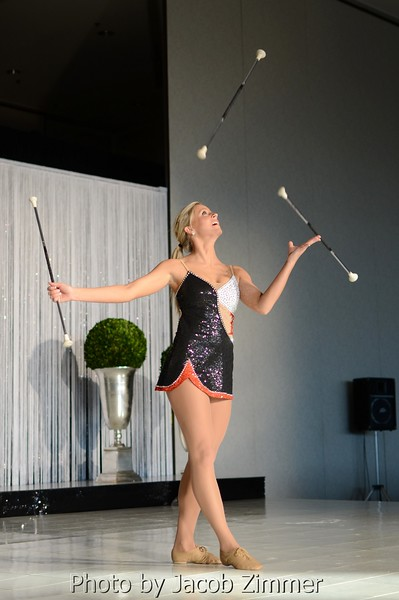 2012 Miss Cardinal Country Melissa Cox reprises her talent with a baton performance.
