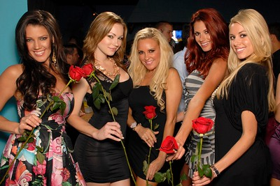 Playboy Playmates Chrystal McCahill, Kimberly Phillips, Bridget Marquardt, Jaime Edmondson, and Heather Rae Young at the Bunny Bash at Fourth St. Live! on May 1, 2010.