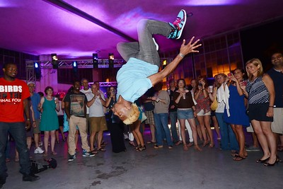 Lamar Young danced at the Cabo Wabo Spring Fling at Bowman Field. June 1, 2013.