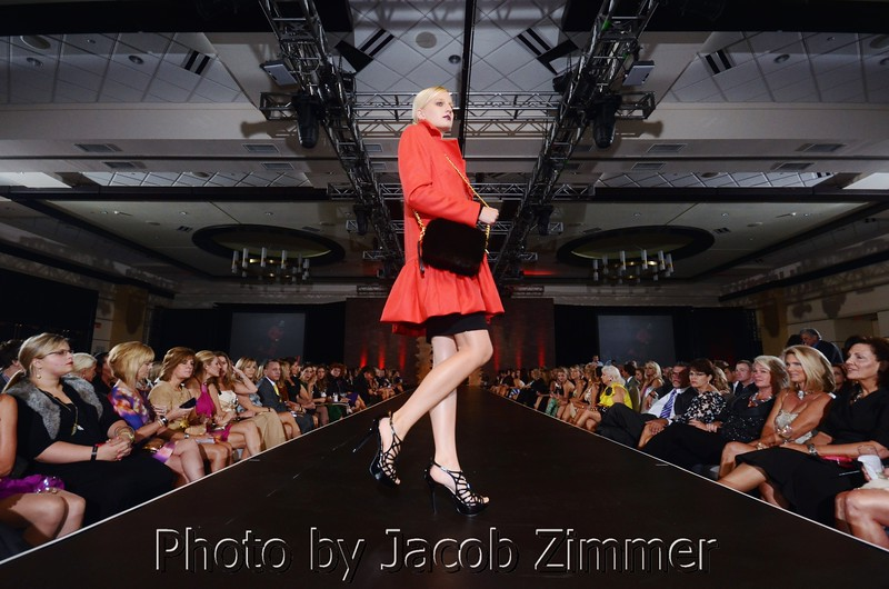 A runway model at Best Dressed of Louisville, 2011.