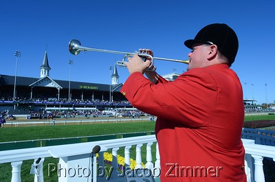 Bugler Steve Buttleman at Churchill Downs for the 2011 Breeders' Cup.