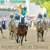 American Pharoh saddled by Victor Espinoza wins the 141st Kentucky Derby. Saturday May 2, 2015.