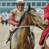 Jockey Joel Rosario aboard Orb, the winner of the 139th Kentucky Derby at Churchill Downs. May 4th, 2013.