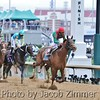 Animal Kingdom crosses the finish line to win the 137th Kentucky Derby. May 7, 2011.