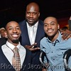University of Louisville Men's Basketball 2013 NCAA Championship players Russ Smith and Kevin Ware with NBA star Shaquille O'Neal at the 2013 Maxim Fillies & Stallions Derby Eve Party. May 3, 2013.