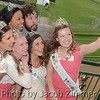 Actor Jonathan Kite from the TV series Two Broke Girls with the Kentucky Derby Festival Princesses on Millionaire's Row at Churchill Downs for the Kentucky Derby Festival's Celebrity Day Luncheon at the Downs on Thursday, May 1, 2014.