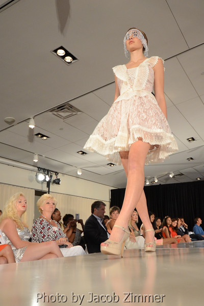 Heyman Model on the runway at the Skyrise Fashion Show at the Muhammed Ali Center Saturday night. September 7, 2013.