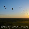 Hot air balloons participate in the KDF Great Balloon Race.