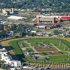 Churchill Downs in the foreground, Papa Johns Cardinal Stadium in the background.