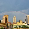 Rainbow over downtown Louisville. 2012.