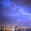 Lightning storm over Louisville Thursday night. June 25, 2015.