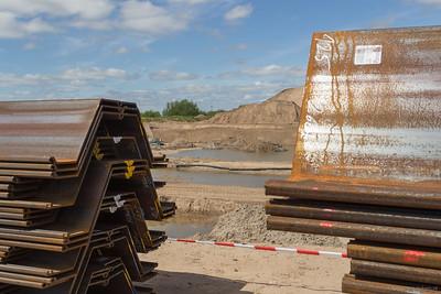 Materiaal voor de damwanden