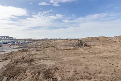 De haven wordt klaargemaakt voor uitgraven