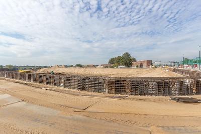 Betonvlechtwerk wordt aangebracht