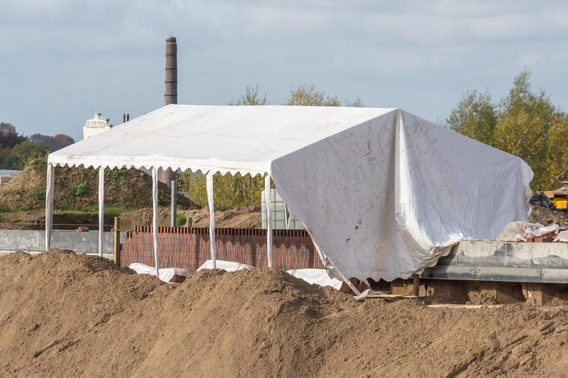 In een tent is het droog