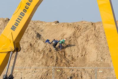 Het is een fijne grote bult zand