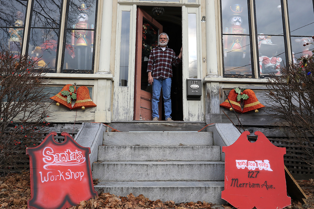 . Jack Hoover talked about his life and his involvement with Toys for Tots over the years at his home on Merriam Avenue in Leominster on Thursday, December 13, 2018. SENTINEL & ENTERPRISE/JOHN LOVE