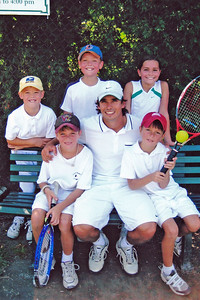 Tennis - With Freddy, Emma, JD & Stewart