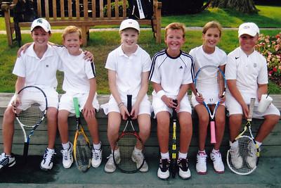 Tennis - With Jeffrey, Francis, Maddie & George