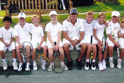 Tennis - With Freddy, Pedro, Jeffrey, Francis, Maddie & George