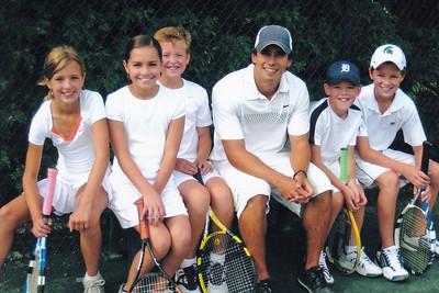 Tennis - With Freddy, Maddie, Emma & Jeffrey
