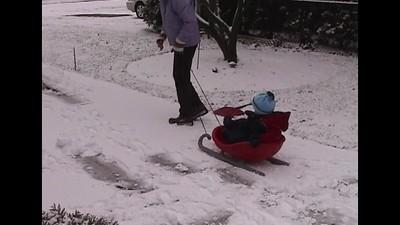 Shoveling Driveway & Throwing Snowballs
