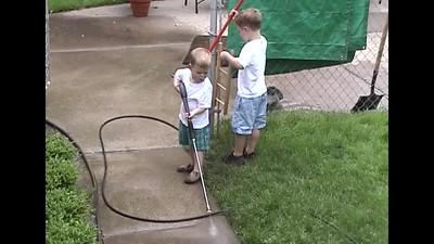 Pressure Washing the Walk