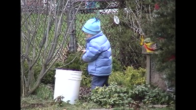 Cleaning Out the Compost Bin