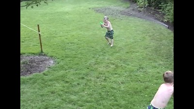 Backyard Water Fights