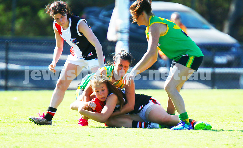 17-4-16. Round 1, 2016 WVFL season. Jackettes 4-10-34 def Bayswater 4-2-26 at Bayswater Oval. Photo: Peter Haskin
