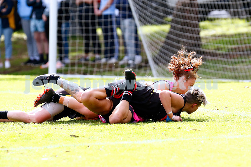 18-8-19. AJAX Jackettes went down to Glen Eira/Old McKinnon in the VAFA Division 4 Women's grand final 3.2-20 to 6.8-44. Photo: Peter Haskin