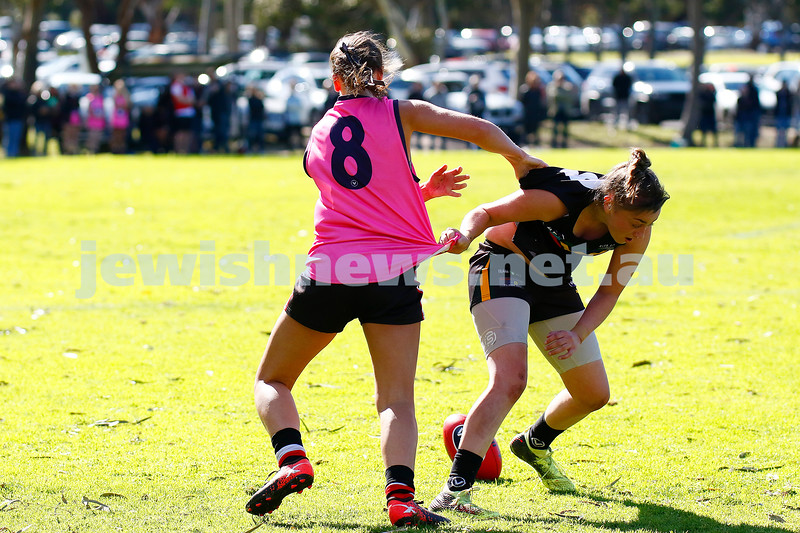 18-8-19. AJAX Jackettes went down to Glen Eira/Old McKinnon in the VAFA Division 4 Women's grand final 3.2-20 to 6.8-44. Photo: Peter Haskin