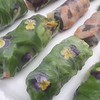 assorted gluten free BEAUTIFUL  rice rolls - lemongrass beef, shrimp/egg/mushroom and veggie