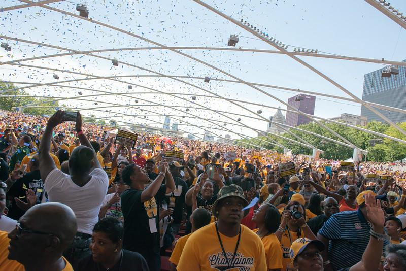 Jackie Robinson West Celebration Rally at  Millennium Park
