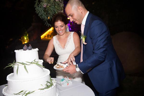 Reception Cake cut