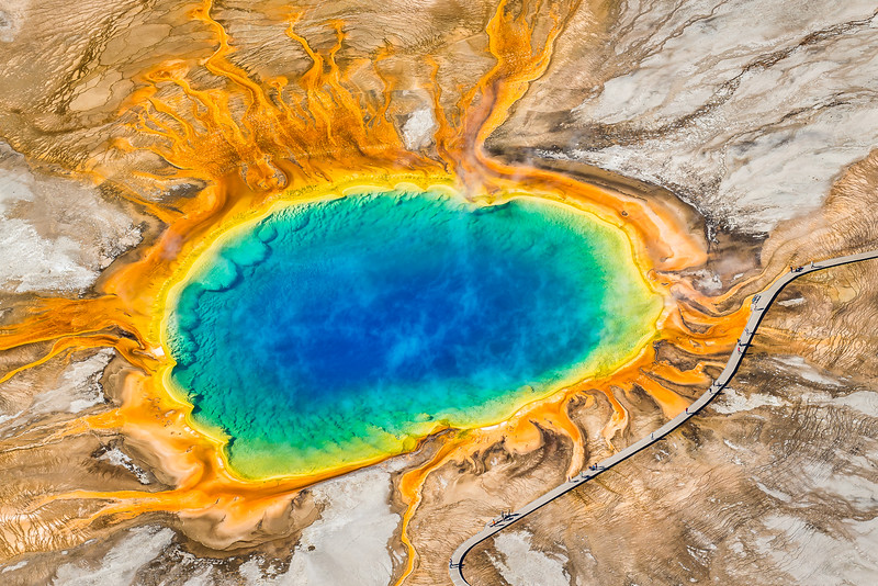 Grand Prismatic Spring at 1,500ft