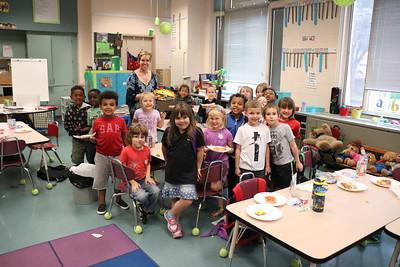 Julie Welliver's kindergarten classroom raised $85.37.
