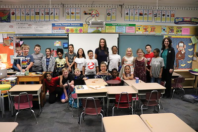 Tanya Brown's third-grade class came in first overall with $300.20.